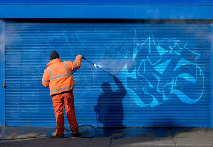 Graffiti, is it difficult to remove? Great Outdoors External Cleaning explains